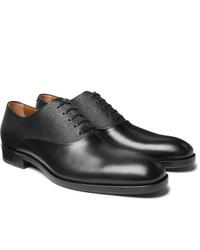Chaussures richelieu en cuir noires Hugo Boss