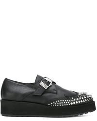 Chaussures richelieu en cuir noires MCQ