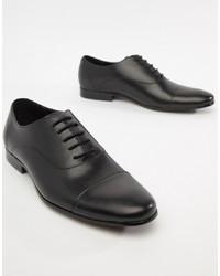 Chaussures richelieu en cuir noires Office