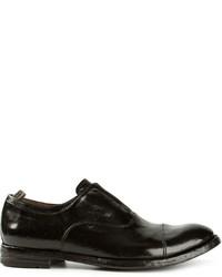 Chaussures richelieu en cuir noires Officine Creative