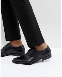 Chaussures richelieu en cuir noires Pier One