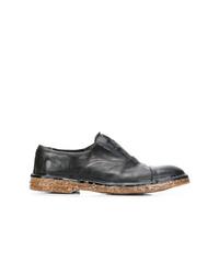 Chaussures richelieu en cuir noires Premiata