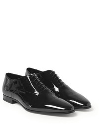 Chaussures richelieu en cuir noires Saint Laurent