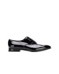 Chaussures richelieu en cuir noires Salvatore Ferragamo