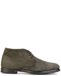 Chaussures richelieu en cuir olive Andrea Ventura