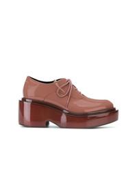 Chaussures richelieu en cuir orange MM6 MAISON MARGIELA