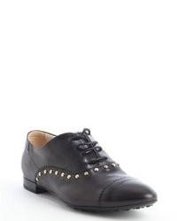 Chaussures richelieu en cuir ornées noires