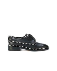 Chaussures richelieu en cuir ornées noires Alexander Wang