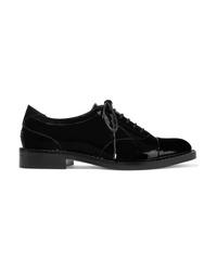 Chaussures richelieu en cuir ornées noires Jimmy Choo