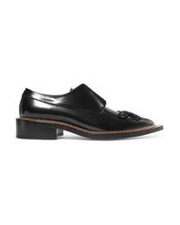 Chaussures richelieu en cuir ornées noires Simone Rocha