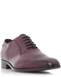 Chaussures richelieu en cuir pourpre foncé