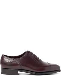 Chaussures richelieu en cuir pourpre foncé Edward Green