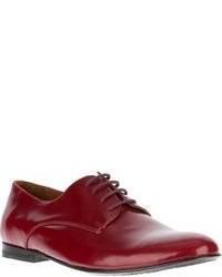 Chaussures richelieu en cuir rouges