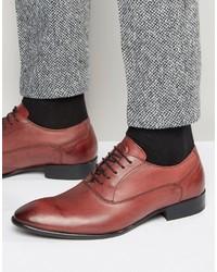 Chaussures richelieu en cuir rouges Base London