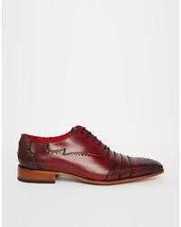 Chaussures richelieu en cuir rouges Jeffery West