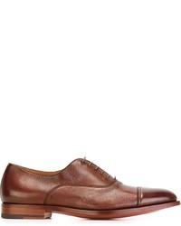 Chaussures richelieu en cuir rouges Santoni