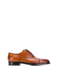 Chaussures richelieu en cuir tabac Kiton