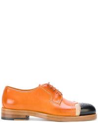 Chaussures richelieu en cuir tabac Maison Margiela
