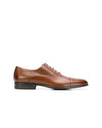 Chaussures richelieu en cuir tabac Moreschi