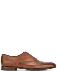 Chaussures richelieu en cuir tabac Paul Smith