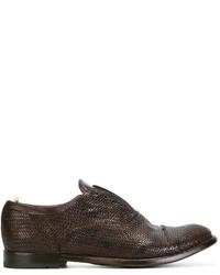Chaussures richelieu en cuir tressées marron foncé