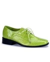 Chaussures richelieu en cuir vertes