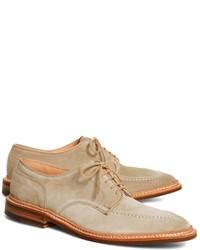 Chaussures richelieu en daim beiges