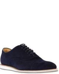 Chaussures richelieu en daim bleu marine Church's