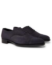 Chaussures richelieu en daim bleu marine Kingsman