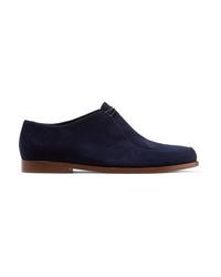 Chaussures richelieu en daim bleu marine Mansur Gavriel