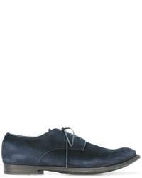 Chaussures richelieu en daim bleu marine Officine Creative