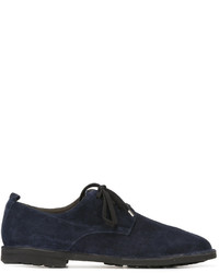 Chaussures richelieu en daim bleu marine Rocco P.