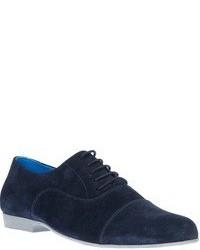 Chaussures richelieu en daim bleu marine Swear
