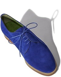 Chaussures richelieu en daim bleues