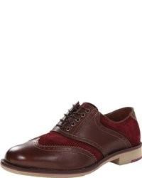 Chaussures richelieu en daim bordeaux