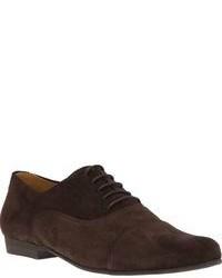 Chaussures richelieu en daim brunes foncées