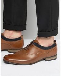 Chaussures richelieu en daim brunes Asos