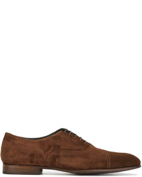 Chaussures richelieu en daim brunes Paul Smith