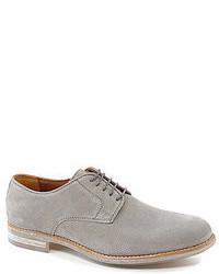 Chaussures richelieu en daim grises