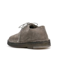 Chaussures richelieu en daim grises Marsèll