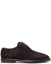 Chaussures richelieu en daim marron foncé Dolce & Gabbana
