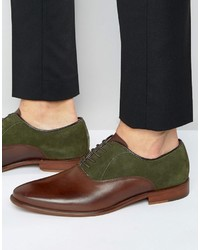 Chaussures richelieu en daim marron Aldo
