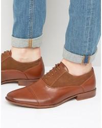 Chaussures richelieu en daim marron Asos