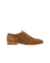 Chaussures richelieu en daim marron Officine Creative
