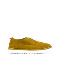 Chaussures richelieu en daim moutarde Marsèll