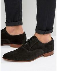 Chaussures richelieu en daim noires Aldo