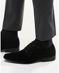 Chaussures richelieu en daim noires Asos