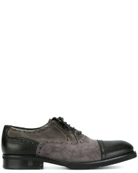 Chaussures richelieu en daim noires Baldinini