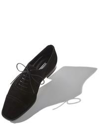 Chaussures richelieu en daim noires Manolo Blahnik