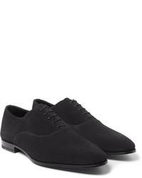 Chaussures richelieu en daim noires Saint Laurent